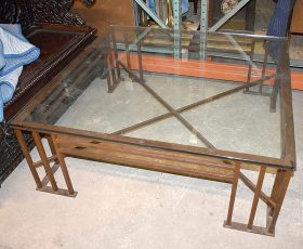 313. Iron and Glass Coffee Table |  $35.40