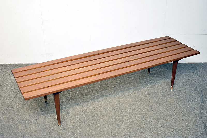 314. Modern Design Walnut Slat Bench |  $215.25