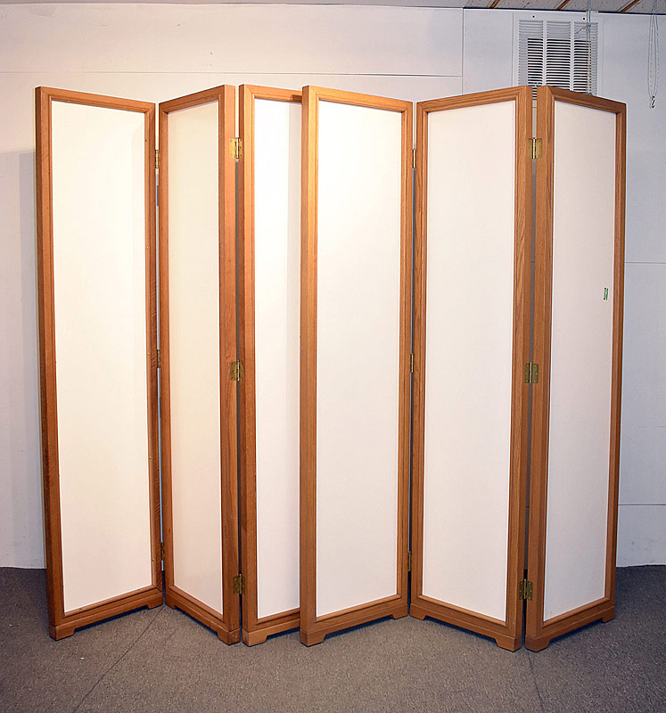316. Lrg. Custom 2-part Room Divider, Oak/Formica |  $184.50