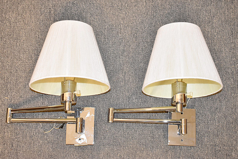 317. Pair of Hansen Swing-Arm Wall Lamps |  $123