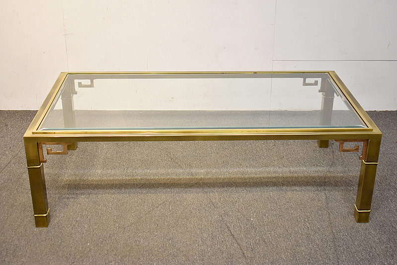 323. Mastercraft Brass & Glass Coffee Table |  $338.25