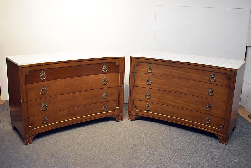 326. Pair of Concave Marble-top Dressers |  $2,091