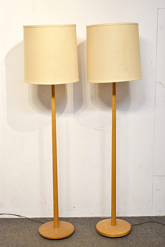 331. Pair of Attrb. George Kovacs Oak Floor Lamps |  $153.75