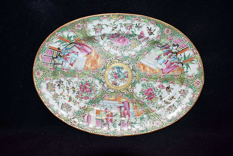 10. Chinese Export Rose Medallion Porcelain Platter |  $147.50
