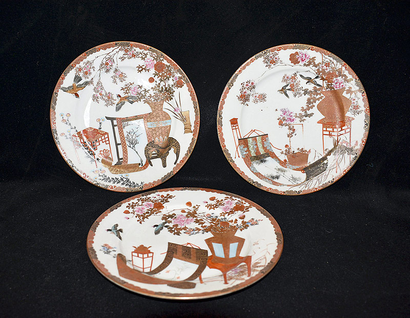 11. Three Japanese Porcelain Plates |  $23.60