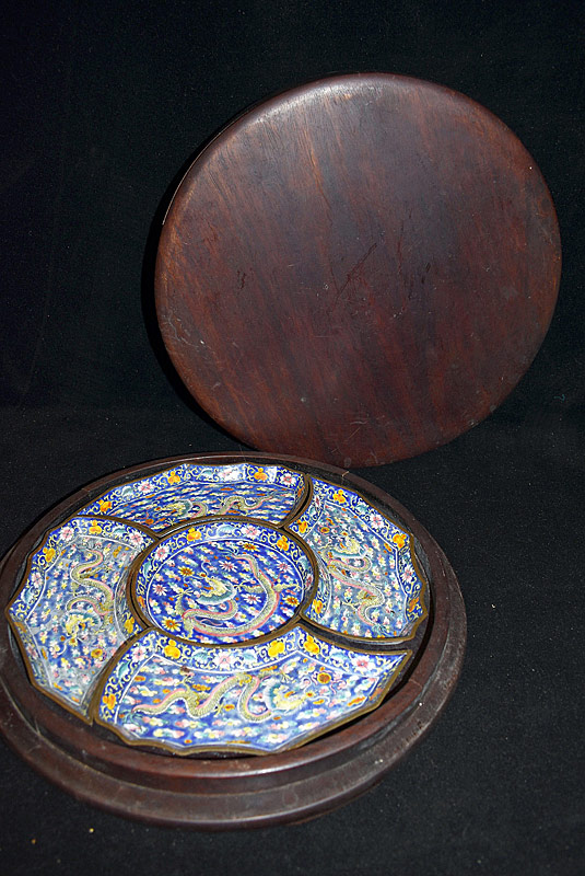 14. Chinese Canton Enameled Sweetmeat Tray |  $413