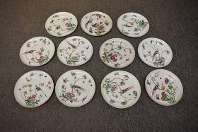 16. Eleven Chinese Famille Rose Porcelain Plates    $369