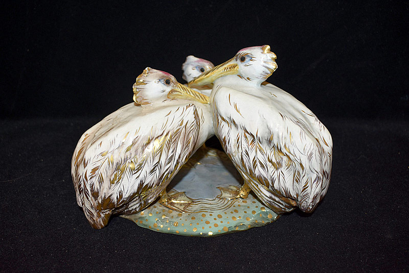 17. Porcelain Figural Grouping: Pelicans |  $265.50