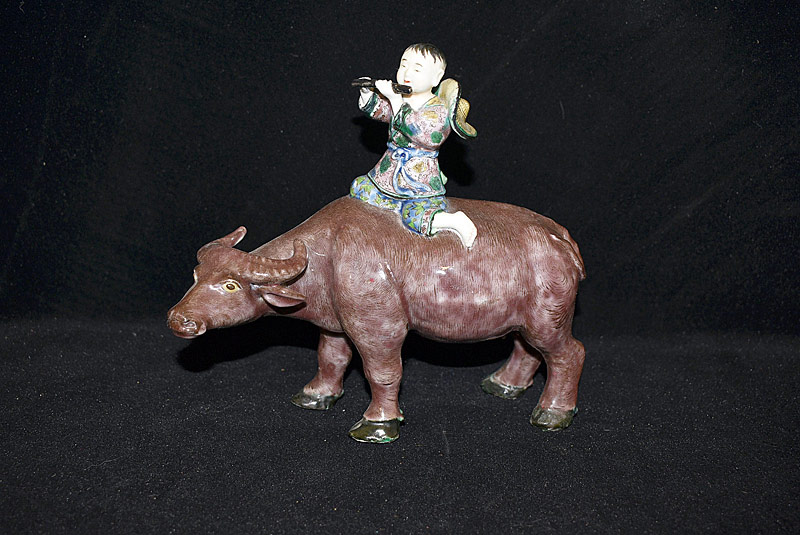 19. Chinese Porcelain Figure: Boy on Water Buffalo |  $246