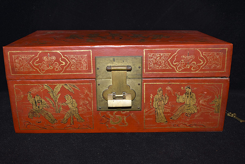 21. Chinese Red Lacquered Box |  $35.40