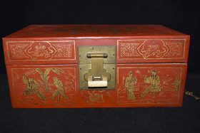 21. Chinese Red Lacquered Box    $35.40