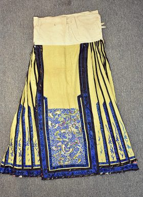 30. Chinese Embroidered Silk Skirt    $276.75