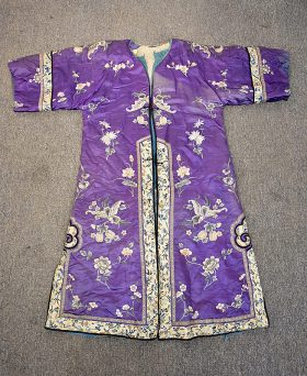 31. Chinese Embroidered Silk Robe    $265.50