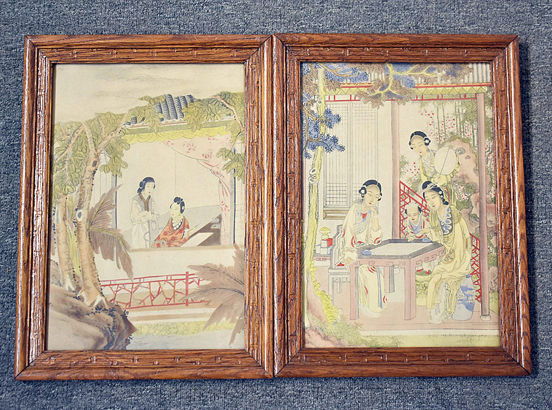 32. Pair of Chinese Prints in Oak Frames |  $23.60