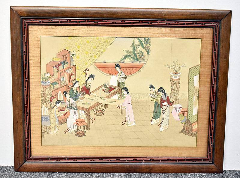 35.Chinese Watercolor: Court Scene |  $35.40