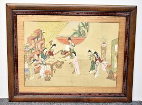 35.Chinese Watercolor: Court Scene    $35.40