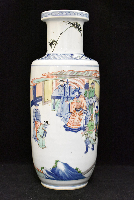 38. Chinese Porcelain Vase with Courtyard Scene |  $522.75