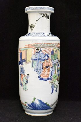 38. Chinese Porcelain Vase with Courtyard Scene    $522.75