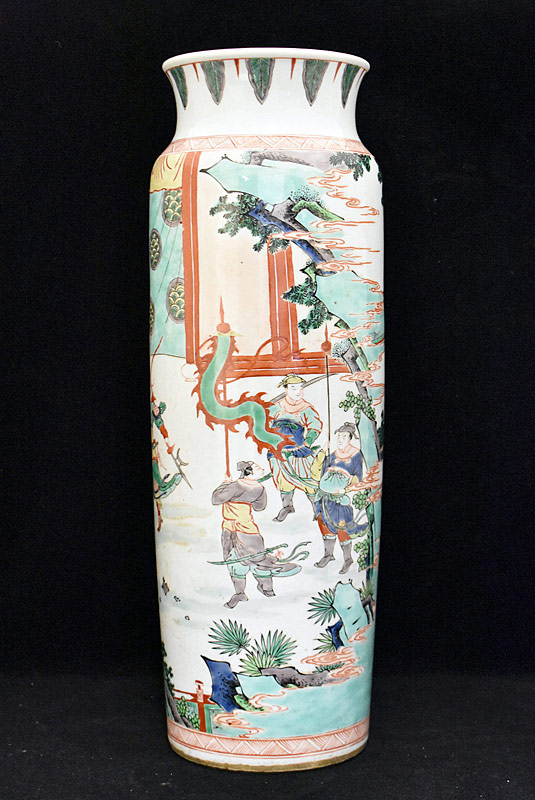 39. Chinese Porcelain Vase with Courtyard Scene |  $984