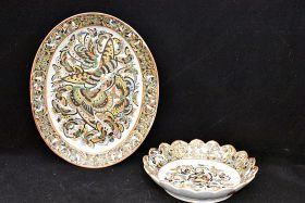 40. Two Chinese Export Thousand Butterfly Dishes    $153.75