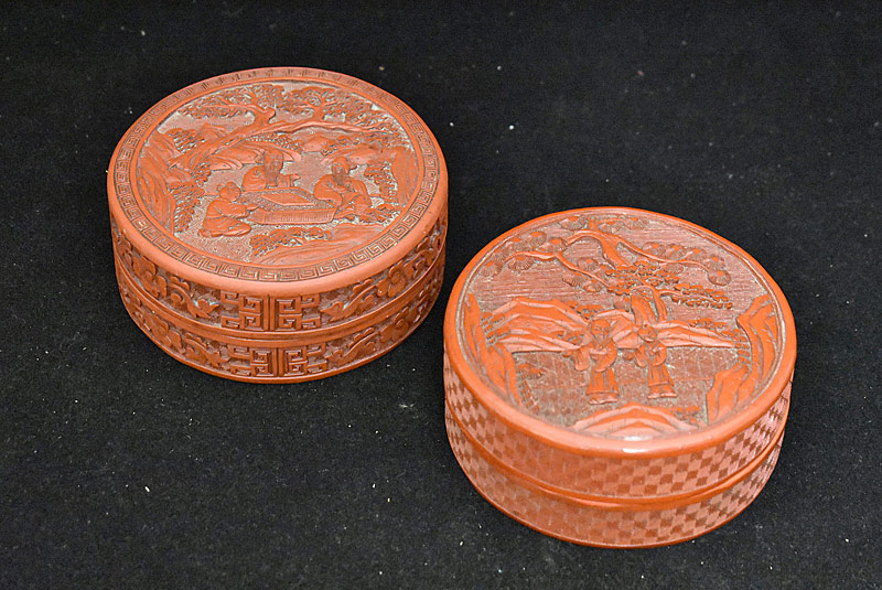 42. Pair of Chinese Carved Cinnabar Boxes |  $118