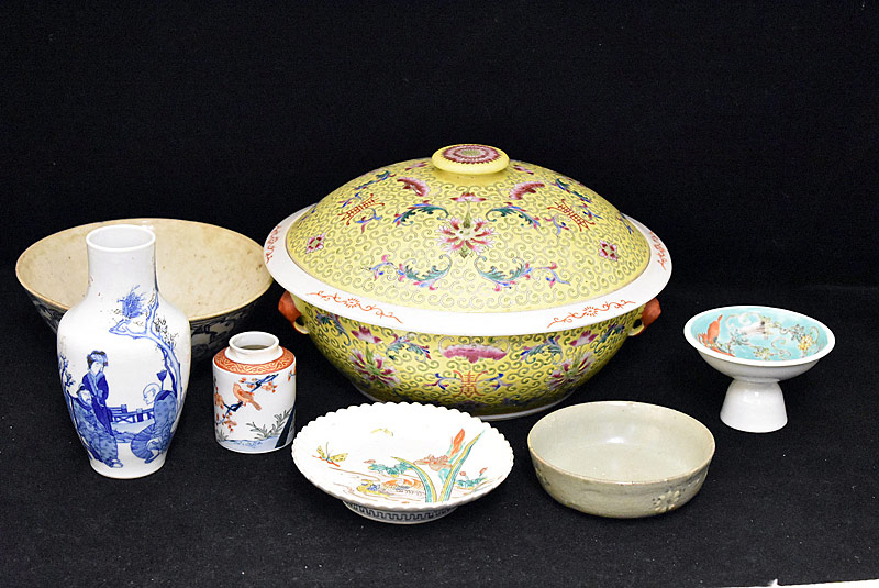 53. Seven-piece Chinese Porcelain Grouping |  $215.25