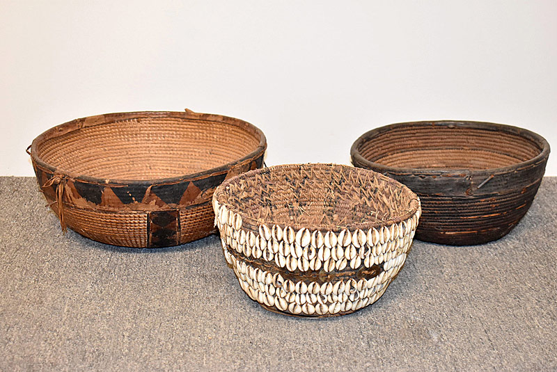 60. Three West African Woven Baskets |  $82.60