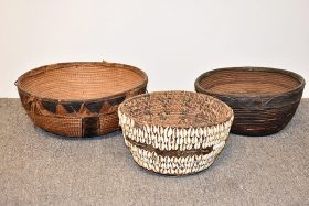60. Three West African Woven Baskets    $82.60