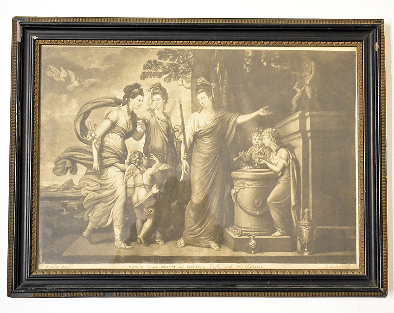 62. After Richard Cosway. Engraving, Classical Scene |  $35.40