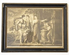 62. After Richard Cosway. Engraving, Classical Scene    $35.40