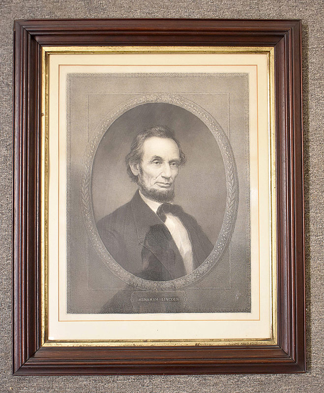 65. After William Marshall. Engraving, A. Lincoln |  $141.60