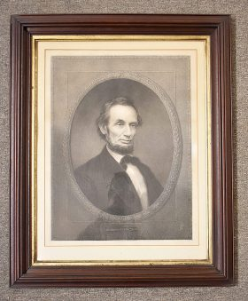 65. After William Marshall. Engraving, A. Lincoln    $141.60
