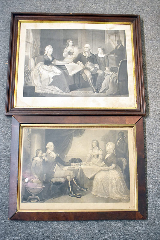 66. Two 19th C. George Washington Family Engravings |  $206.50
