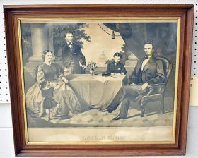 67. 19th C. Engraving, Lincoln Family    $147.50
