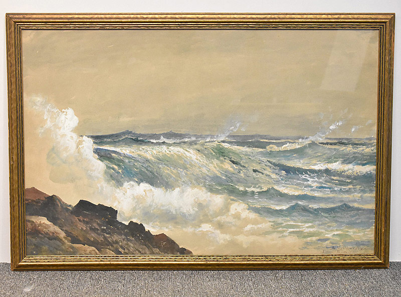 70. Edmund Darch Lewis. Watercolor, A Northwester |  $442.50