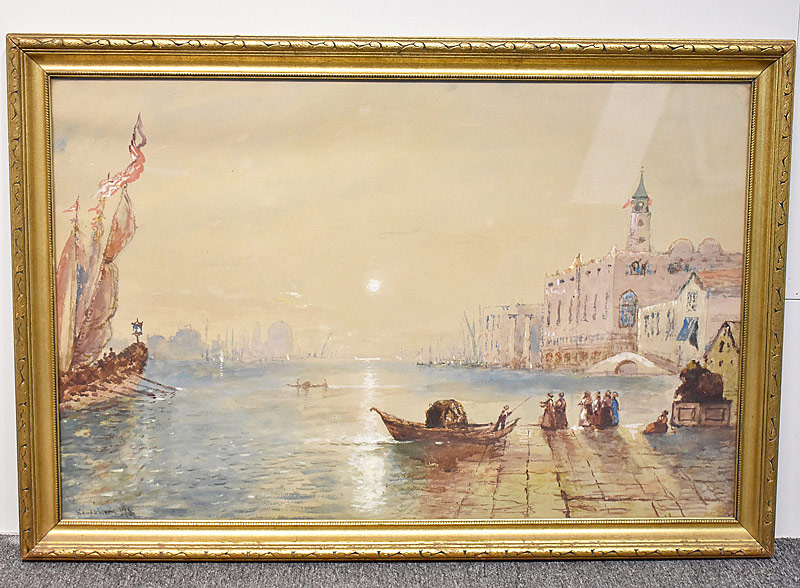 71. Edmund Darch Lewis  Watercolor, Harbor Scene |  $324.50