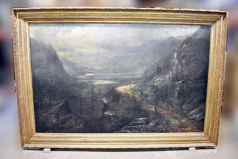 72. 19th C. Museum-Sz American School. Oil/Canvas, Ute Pass, CO |  $2,242