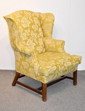 76. Chippendale Wing Chair    $399.75