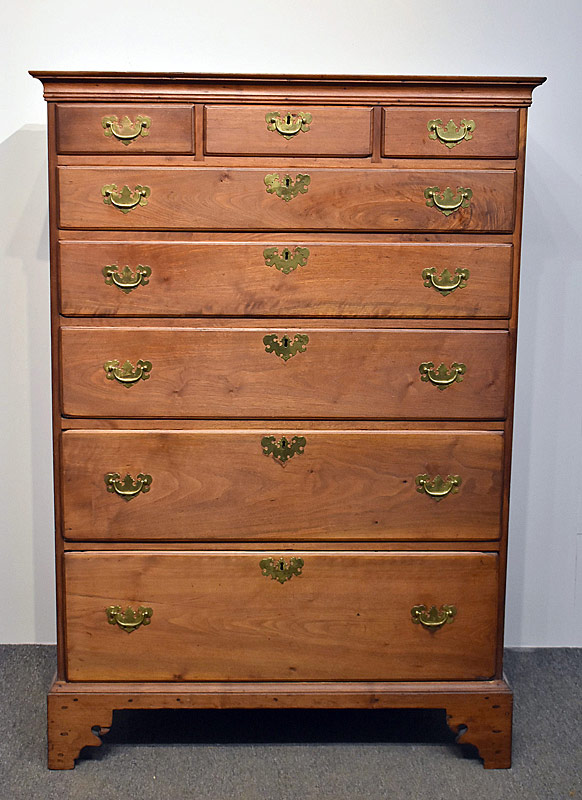 79. Chippendale Walnut Semi-Tall Chest of Drawers |  $383.50