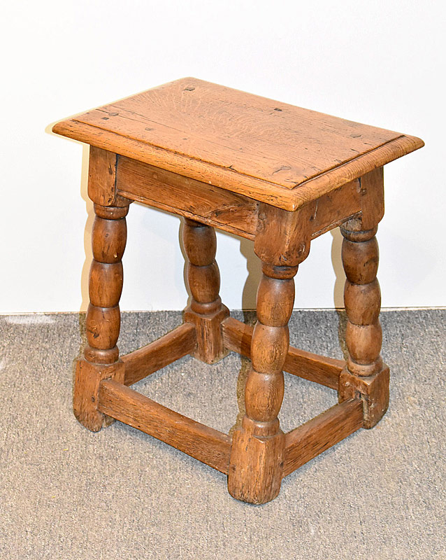 82. Jacobean Joined Oak Stool |  $522.75