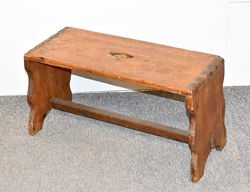 83. 19th C. Dovetailed Pine Stool |  $177