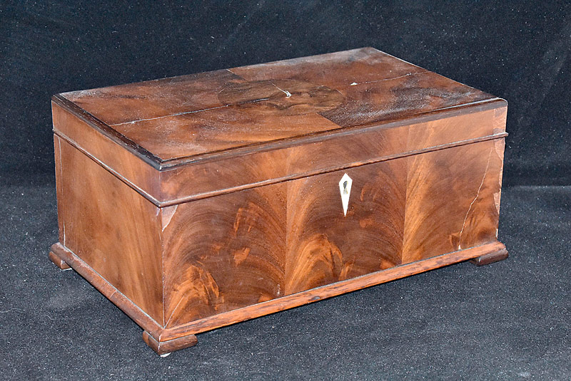 88. 19th C. Mahogany Sewing Box |  $82.60