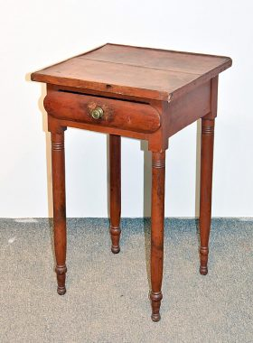 89. Red Painted Pine Work Table    $70.80
