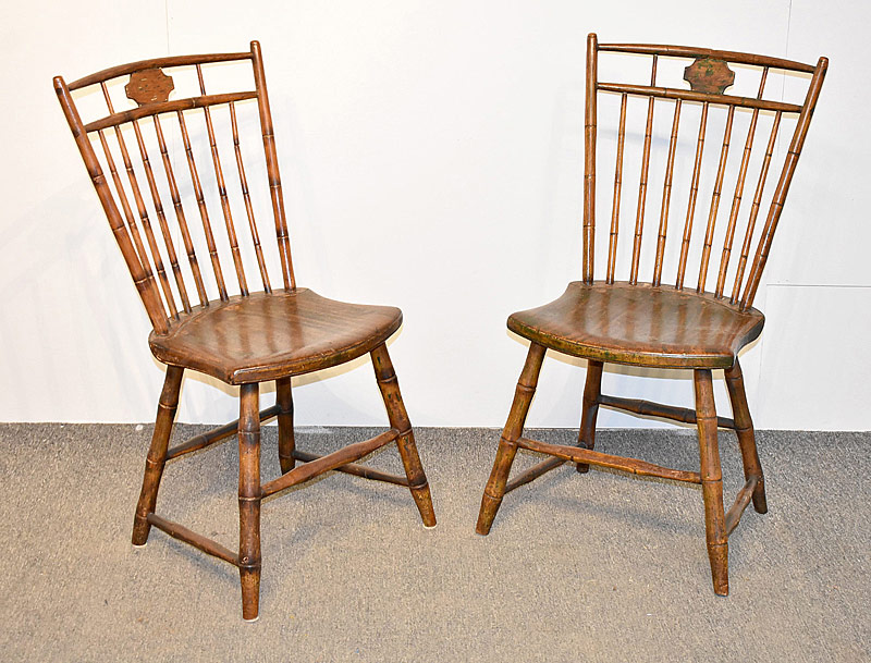 96. Two Windsor Birdcage Side Chairs |  $82.60