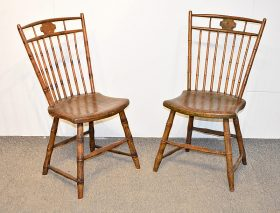 96. Two Windsor Birdcage Side Chairs    $82.60