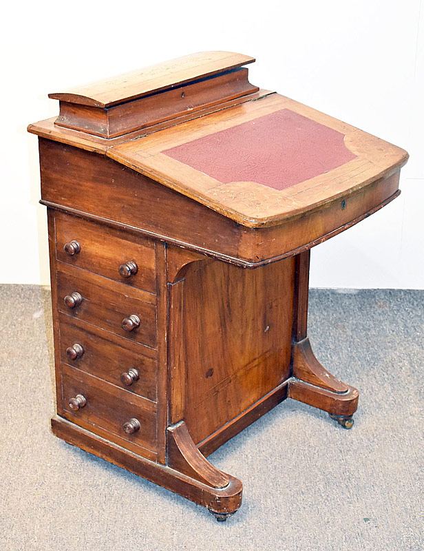 103. Inlaid Walnut Davenport Desk |  $94.40