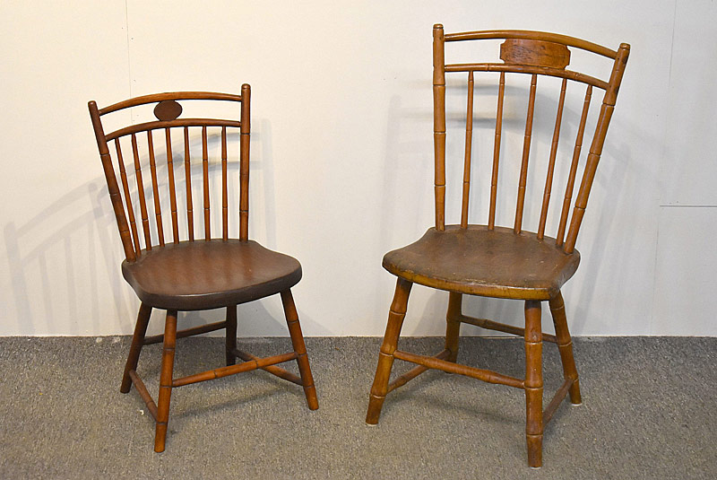 105A. Two Birdcage Windsor Child\'s Chairs |  $35.40