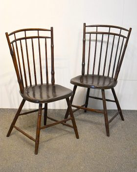 105B. Pair of Windsor Side Chairs    $59.00
