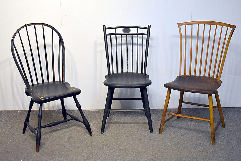 105C. Three Windsor Side Chairs |  $47.20