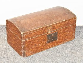 105. Miniature Grain-Painted Dome-top Trunk    $206.50